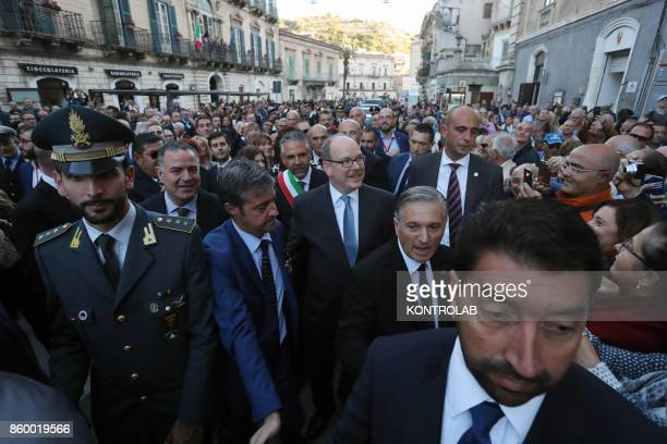 Prince Albert II of Monaco greeted the people of Modica in Sicily southern Italy on holiday