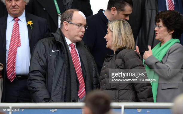 Prince Albert II of Monaco in the stands before kick off