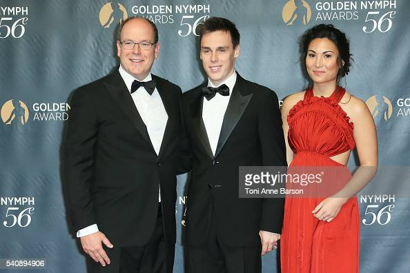 Prince Albert II of Monaco Louis Ducruet and Girlfriend Marie Chevalier arrive at the 56th Monte Carlo TV Festival Closing Ceremony and Golden Nymph...