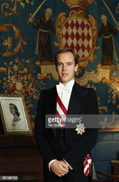 Prince Albert II of Monaco poses at the Royal Palace in Monaco December 1983 in Monte Carlo Monaco