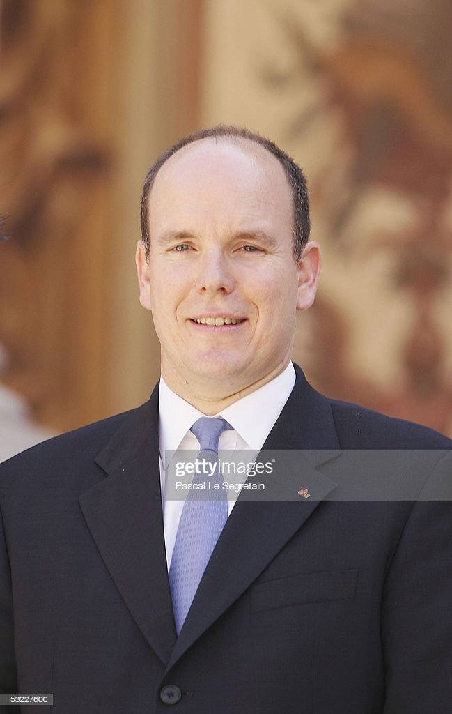 <a gi-track='captionPersonalityLinkClicked' href=/galleries/search?phrase=Prince+Albert+II+of+Monaco&family=editorial&specificpeople=201707 ng-click='$event.stopPropagation()'>Prince Albert II of Monaco</a> poses in the court yard of the Palace of Monaco for an official photograph on July 12, 2005 in Monte Carlo, Monaco. The photo call is part of the day's official events surrounding His Serene Highness Prince Albert II's Official Enthronement.