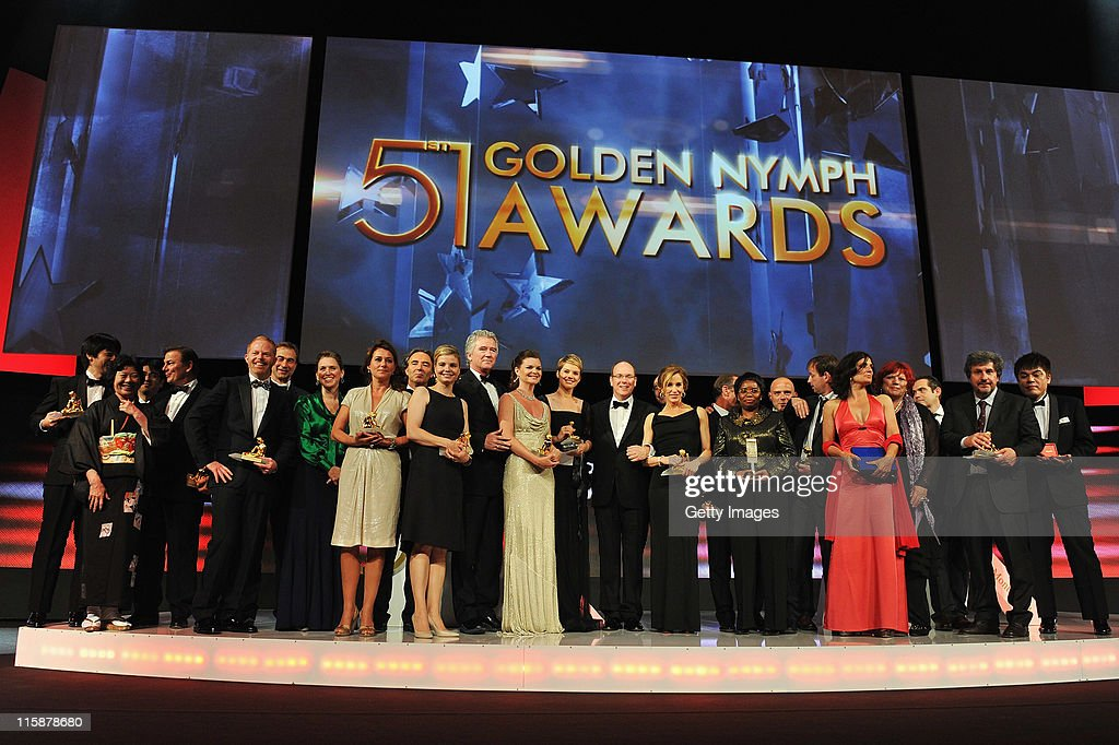 <a gi-track='captionPersonalityLinkClicked' href=/galleries/search?phrase=Prince+Albert+II+of+Monaco&family=editorial&specificpeople=201707 ng-click='$event.stopPropagation()'>Prince Albert II of Monaco</a> poses with Golden Nymph award winners during the closing ceremony of the 51st Monte Carlo TV Festival at the Grimaldi forum on June 10, 2011 in Monaco, Monaco.
