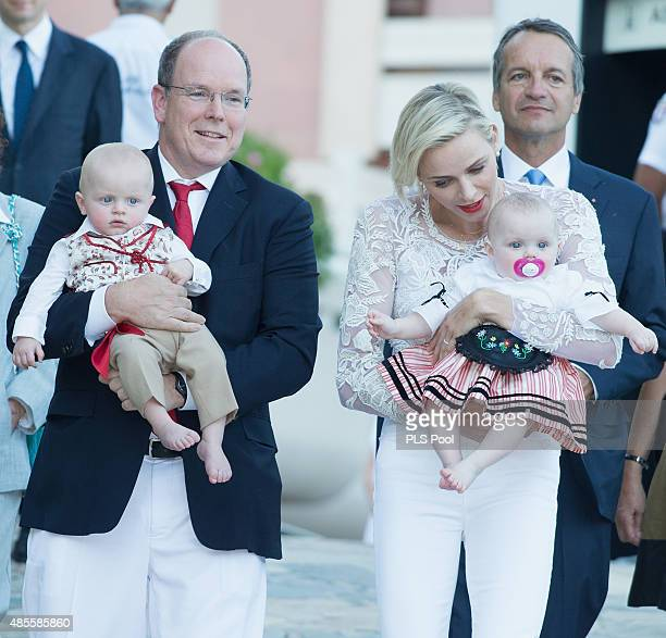 Prince Albert II of Monaco Prince Jacques Princess Charlene of Monaco and Princess Gabriella attend the annual traditional 'Pique Nique Monegasque'...