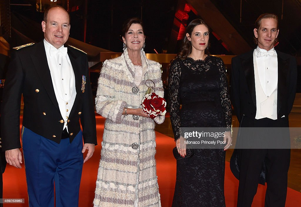 <a gi-track='captionPersonalityLinkClicked' href=/galleries/search?phrase=Prince+Albert+II+of+Monaco&family=editorial&specificpeople=201707 ng-click='$event.stopPropagation()'>Prince Albert II of Monaco</a>, Princess Caroline of Hanover, <a gi-track='captionPersonalityLinkClicked' href=/galleries/search?phrase=Tatiana+Santo+Domingo&family=editorial&specificpeople=618155 ng-click='$event.stopPropagation()'>Tatiana Santo Domingo</a> and <a gi-track='captionPersonalityLinkClicked' href=/galleries/search?phrase=Andrea+Casiraghi&family=editorial&specificpeople=213711 ng-click='$event.stopPropagation()'>Andrea Casiraghi</a> attend the Monaco National Day Gala at Grimaldi Forum on November 19, 2014 in Monaco, Monaco.