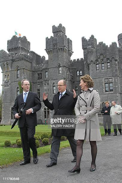 Prince Albert II of Monaco vidits Ashford castle Ireland on April 6 2011 Prince Albert II and fiancee Charlene Wittstock of South Africa were on a...
