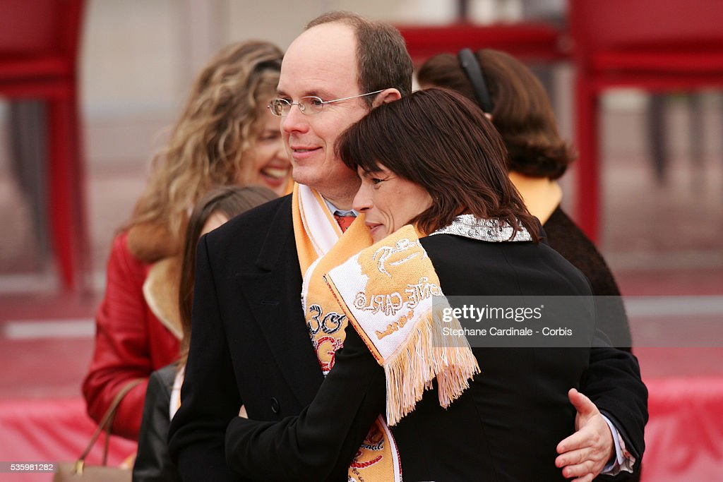 HSH Prince Albert II of Monaco with her sister HSH Princess Stephanie of Monaco at the 30th international circus Festival of Monte Carlo.