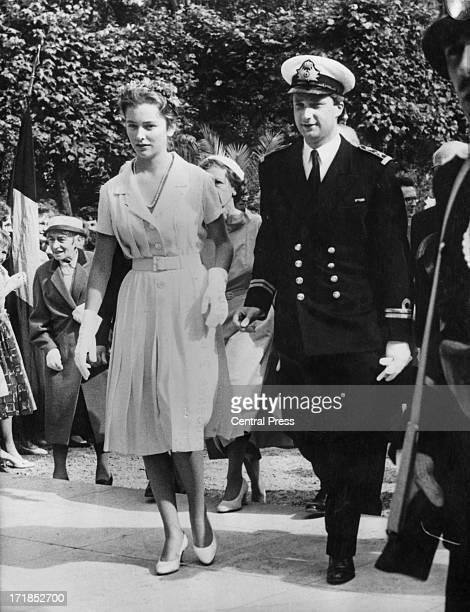 Prince Albert of Belgium later King Albert II of Belgium and Princess Paola of Belgium meet Brussels residents on a tour of the Belgian capital 8th...