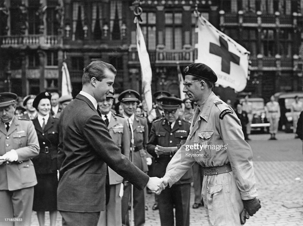 Prince Albert of Belgium, later King Albert II of Belgium presents the Red Cross Awards Ceremony in Brussels, 29th March 1960.