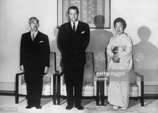 Prince Albert of Belgium meets with Emperor Hirohito and Empress Nagako at the Imperial Palace Tokyo 20th April 1970 Prince Albert is in Japan to...