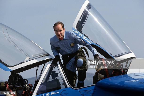 Prince Albert Of Monaco 1993 Sponsor Of The Patrouille De France A Salon de Provence le prince ALBERT promu parrain 1993 de la Patrouille de FRANCE...