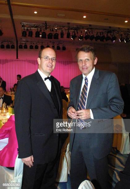 Prince Albert of Monaco and Patrick Poivre d'Arvor