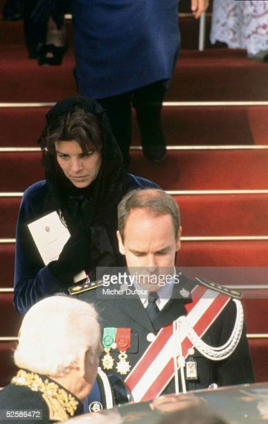 Prince Albert of Monaco and Princess Caroline are seen attending the National Day event in 1996 in Monaco With the deteriorating health of his father...