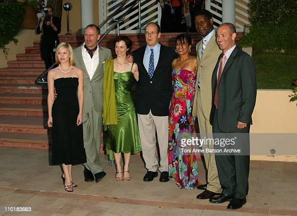HSH Prince Albert of Monaco and the Cast of '24 hour' Elisha Cuthbert Xander Berkeley Sarah Clark Dennis Haysbert and Penny Johnson Jerald