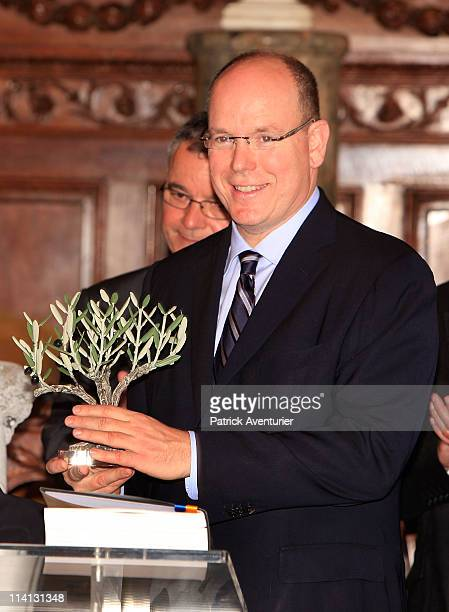 Prince Albert of Monaco arrives at Arles city hall to attend the arrival of Canigou Flame during the European congres of traditions and SaintJean...