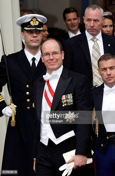 HSH Prince Albert of Monaco at the wedding of the Crown Prince of Denmark Copenhagen Denmark May 14 2004