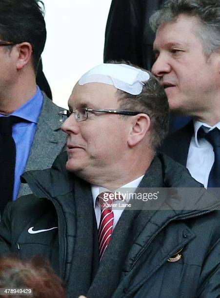 PARIS FRANCE MARCH Prince Albert of Monaco attends the RBS 6 Nations match between France and Ireland at Stade de France on march 15 2014 in Paris...