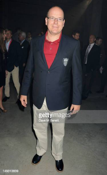 Prince Albert of Monaco attends the Warner Music Group PreOlympics Party in the Southern Tanks Gallery at the Tate Modern on July 26 2012 in London...
