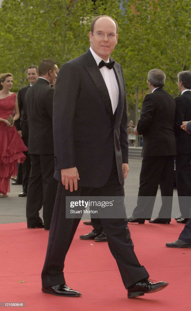 Prince Albert of Monaco during 2006 Laureus World Sports Awards - Red Carpet - Arrivals at Museu Nacional d'Art de Catalunya in Barcelona, Spain.