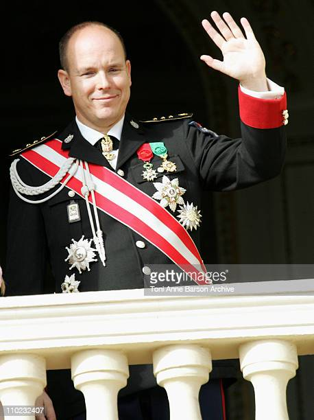HSH Prince Albert of Monaco during Monaco National Day November 19 2004 at Prince Palace in Monte Carlo Monaco