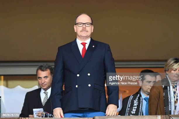 Prince Albert of Monaco during the UEFA Champions League match between AS Monaco and Besiktas Istanbul at Stade Louis II on October 17 2017 in Monaco...