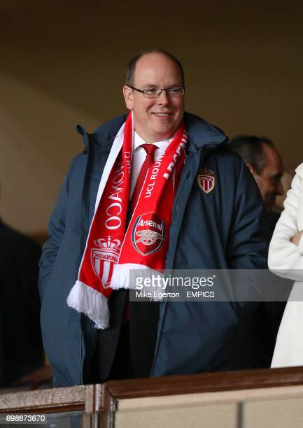Prince Albert of Monaco in the stands