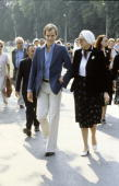 Prince Albert of Monaco is seen with Princesse Grace at Lourdes in 1977 France With the deteriorating health of his father Prince Rainier Prince...
