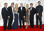 Prince Albert of Monaco poses with Christian Leblanc Eileen Davidson and her husband Victoria Pratt John Shea and Victor Webster as he arrives to...