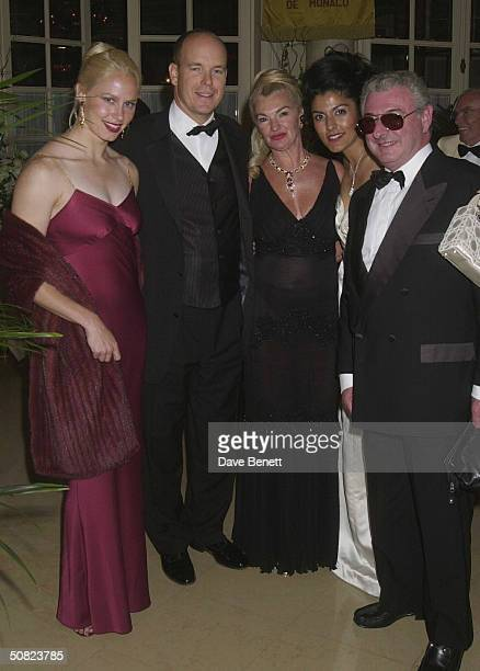 Prince Albert of Monaco with his friend Alicia Wallach Lloyd Bedack and guests at the NSPCC and Zonta Gala Dinner held at the Hermitage Hotel on 19th...