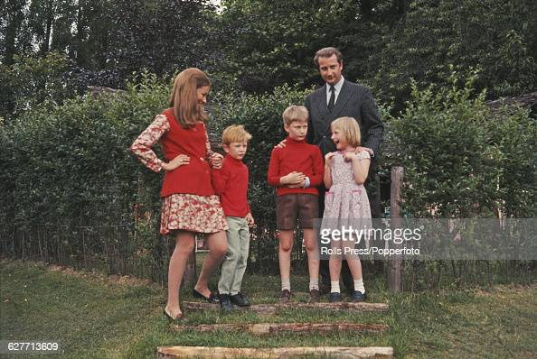 Prince Albert Prince of Liege and future King Albert II of Belgium pictured with his wife Paola Ruffo di Calabria later Queen Paola of Belgium and...