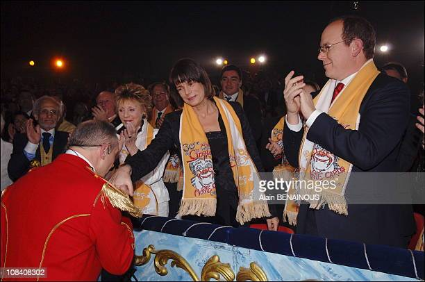 Prince Albert Princess Stephanie and Annie Cordy in Monaco on January 19 2006