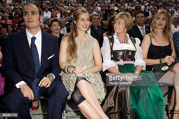 Prince Albert von Thurn und Taxis and mother princess Gloria von Thurn und Taxis and her daughters Maria Theresia and Elisabeth attend the Thurn and...