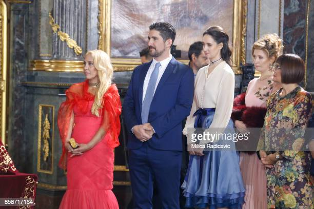 Prince Aleksandar Karadjordjevic during wedding of Prince Philip of Serbia and Danica Marinkovic at The Cathedral Church of St Michael the Archangel...