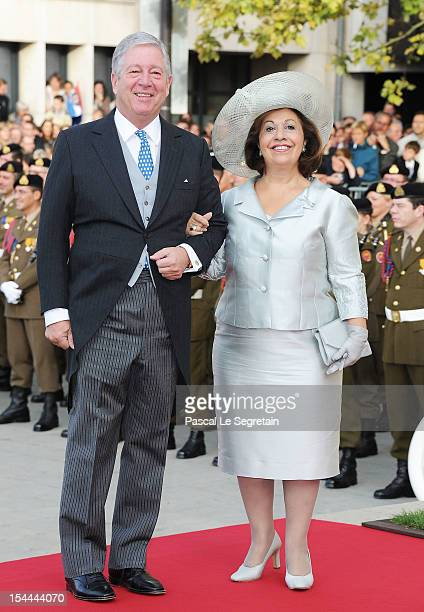 Prince Alexander of Yugoslavia and Princess Katherine of Yugoslavia attend the wedding ceremony of Prince Guillaume Of Luxembourg and Princess...