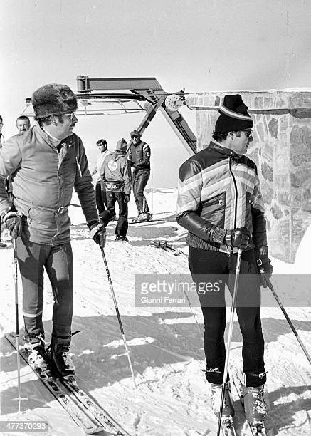 Prince Alfonso of Hohenlohe skiing in Baqueira Beret with Prince Alfonso of Borbon Lerida Spain