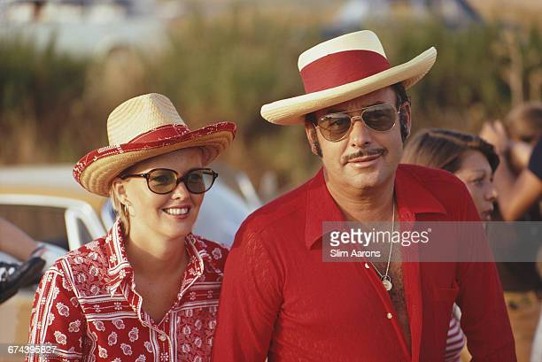 Prince Alfonso of HohenloheLangenburg coowner of the Marbella Club with model Jean Hickey in Marbella 1971