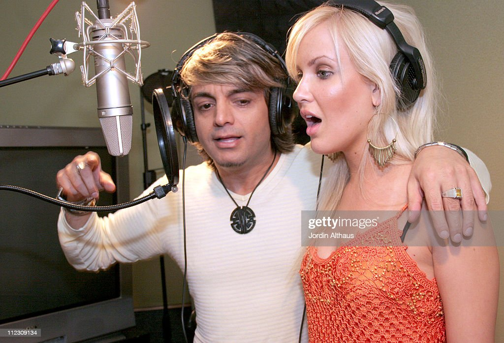 Prince Ali and Danika Quinn during Prince Ali Recording Session at Sound Studio in North Hollywood, California, United States.