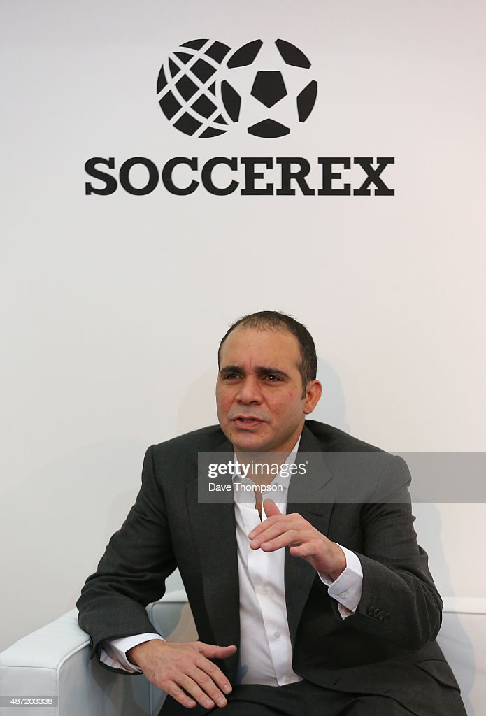 Prince Ali Bin Al Hussein President of the Jordan FA during day three of the Soccerex Global Convention at Manchester Central on September 7 2015 in...