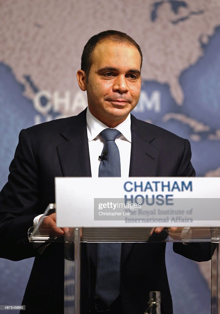 Prince Ali bin alHussein of Jordan talks to the audience as he attends 'Reforming FIFA' at Chatham House on September 10 2015 in London England