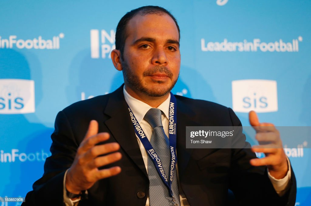 Prince Ali Bin AlHussein the Vice President of FIFA talks during the Leaders In Sport conference at Stamford Bridge on October 10 2012 in London...