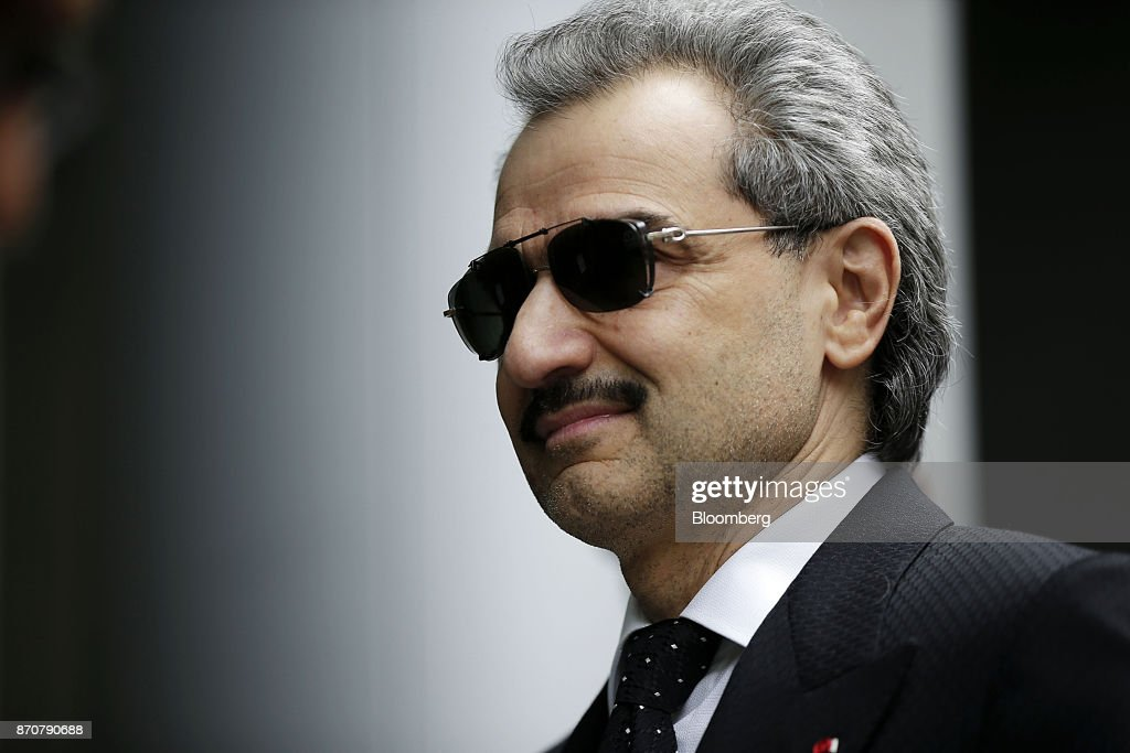 Prince Alwaleed Bin Talal, Saudi billionaire and founder of Kingdom Holding Co., arrives to give evidence at the High Court in London, U.K., on Monday, July 1, 2013. Saudi Arabias King Salman embarked on the most sweeping crackdown yet of his reign, ordering security forces to arrest senior princes including one of the worlds richest men and driving out one of the most prominent officials from his ministerial role. Those detained included billionaire Prince Alwaleed bin Talal, who was picked up at his desert camp outside Riyadh, according to a senior Saudi official. Our editors select the best archive images of Prince Alwaleed bin Talal. Photographer: Matthew Lloyd/Bloomberg via Getty Images