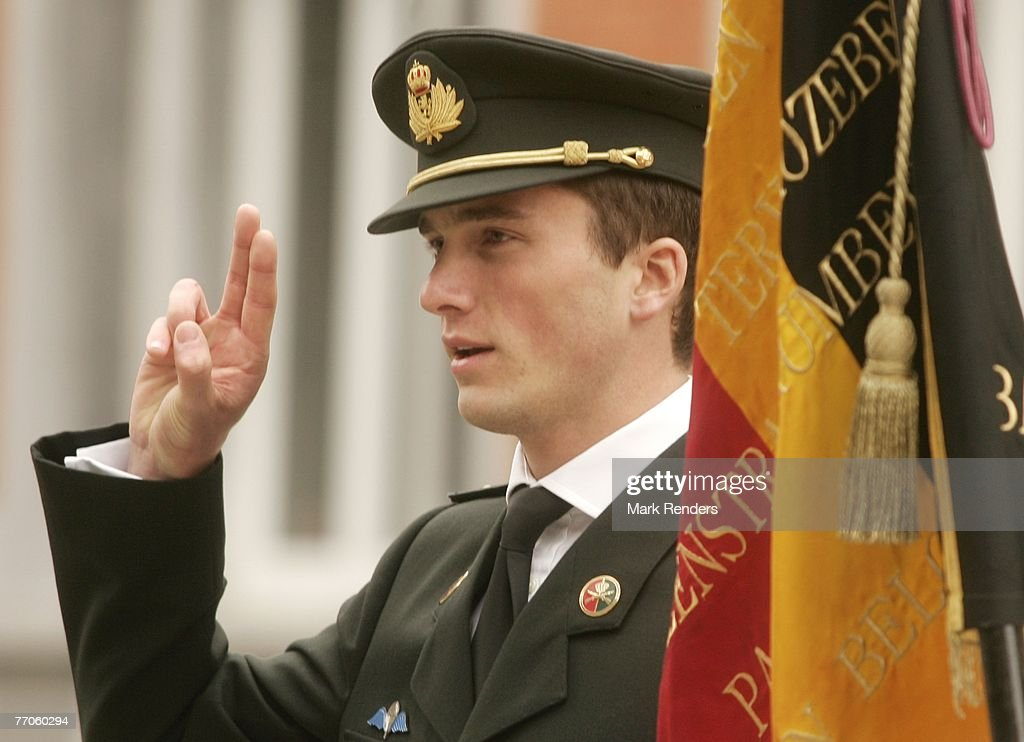 Prince Amedeo Of Belgium Testifies To Become Officer In The Army