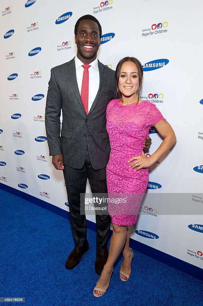 <a gi-track='captionPersonalityLinkClicked' href=/galleries/search?phrase=Prince+Amukamara&family=editorial&specificpeople=6357867 ng-click='$event.stopPropagation()'>Prince Amukamara</a> (L) and Pilar Davis attend the 13th Annual Samsung Hope For Children Gala at Cipriani Wall Street on June 10, 2014 in New York City.