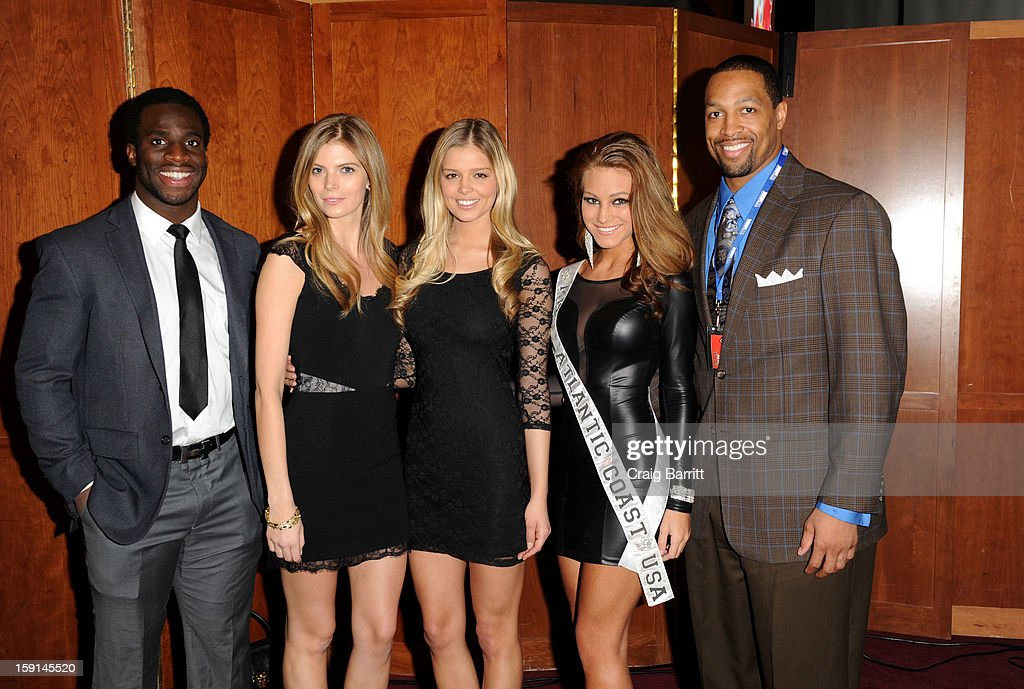 Prince Amukamara, April Maroshick and Michael Boley attend the 16th Annual MDA Muscle Team Gala and Benefit Auction at Pier 60 on January 8, 2013 in New York City.