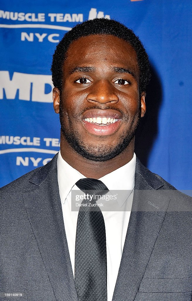 <a gi-track='captionPersonalityLinkClicked' href=/galleries/search?phrase=Prince+Amukamara&family=editorial&specificpeople=6357867 ng-click='$event.stopPropagation()'>Prince Amukamara</a> attends the 16th Annual MDA Muscle Team Gala and Benefit Auction at Pier 60 on January 8, 2013 in New York City.
