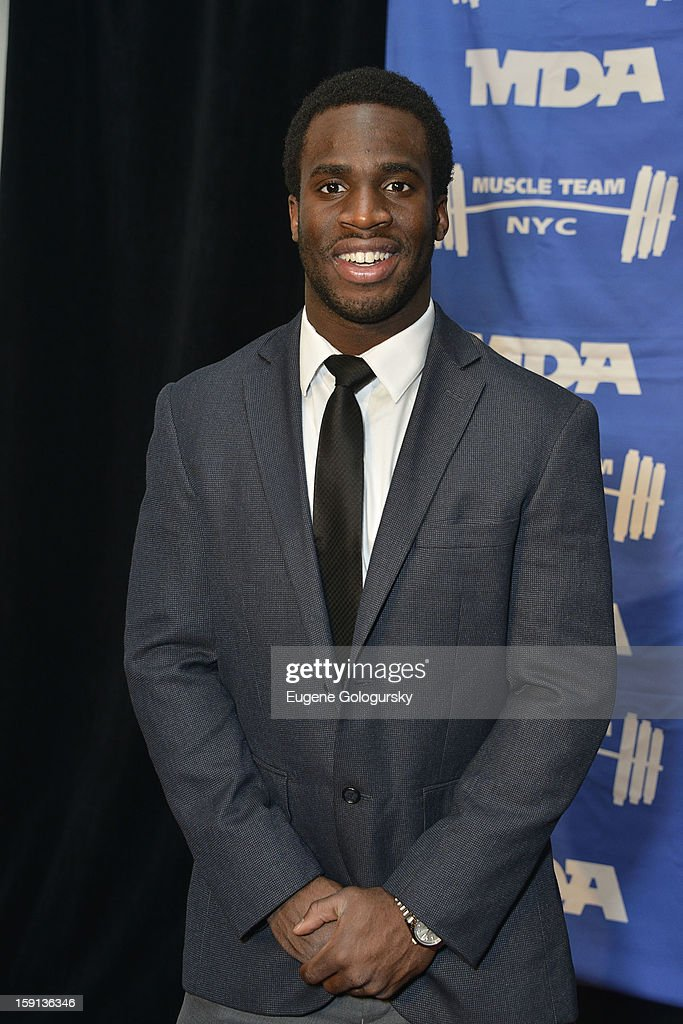 <a gi-track='captionPersonalityLinkClicked' href=/galleries/search?phrase=Prince+Amukamara&family=editorial&specificpeople=6357867 ng-click='$event.stopPropagation()'>Prince Amukamara</a> attends the 16th annual Muscular Dystrophy Association Muscle Team Gala and Benefit Auction at Pier 60 on January 8, 2013 in New York City.