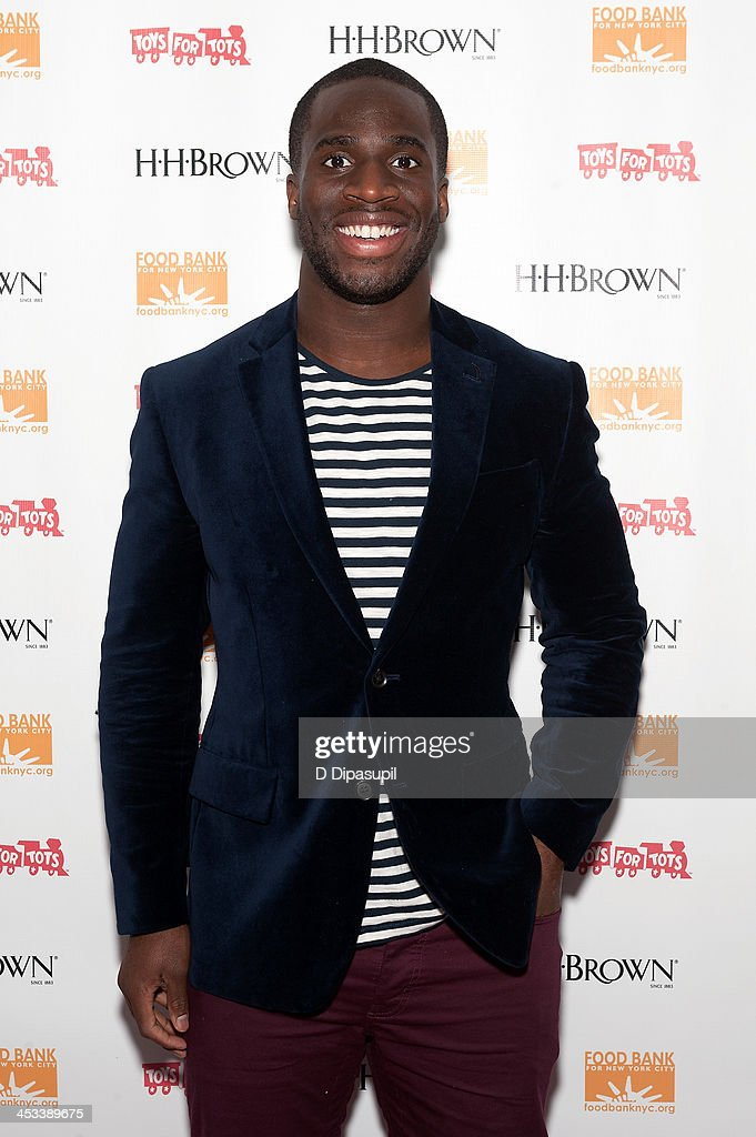 <a gi-track='captionPersonalityLinkClicked' href=/galleries/search?phrase=Prince+Amukamara&family=editorial&specificpeople=6357867 ng-click='$event.stopPropagation()'>Prince Amukamara</a> attends the H.H. Brown Shoe Company Season Of Giving Holiday Party on December 3, 2013 in New York City.