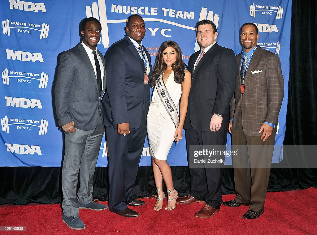 <a gi-track='captionPersonalityLinkClicked' href=/galleries/search?phrase=Prince+Amukamara&family=editorial&specificpeople=6357867 ng-click='$event.stopPropagation()'>Prince Amukamara</a>, <a gi-track='captionPersonalityLinkClicked' href=/galleries/search?phrase=Kevin+Boothe&family=editorial&specificpeople=748934 ng-click='$event.stopPropagation()'>Kevin Boothe</a>, <a gi-track='captionPersonalityLinkClicked' href=/galleries/search?phrase=Olivia+Culpo&family=editorial&specificpeople=9194131 ng-click='$event.stopPropagation()'>Olivia Culpo</a>, <a gi-track='captionPersonalityLinkClicked' href=/galleries/search?phrase=Chris+Snee&family=editorial&specificpeople=748742 ng-click='$event.stopPropagation()'>Chris Snee</a> and <a gi-track='captionPersonalityLinkClicked' href=/galleries/search?phrase=Michael+Boley&family=editorial&specificpeople=750373 ng-click='$event.stopPropagation()'>Michael Boley</a> attend the 16th Annual MDA Muscle Team Gala and Benefit Auction at Pier 60 on January 8, 2013 in New York City.