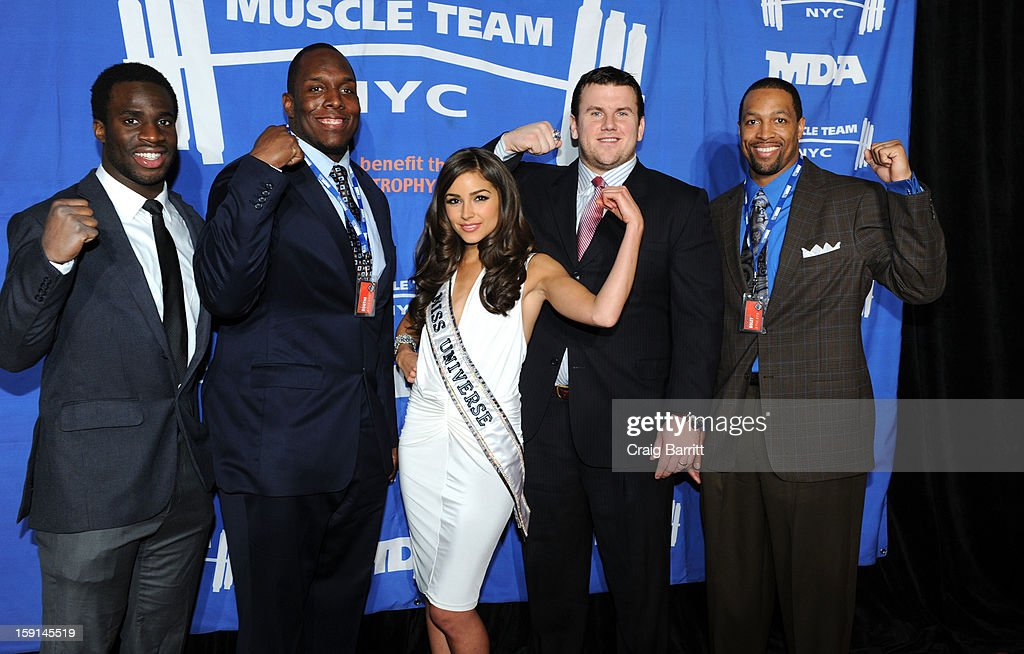 <a gi-track='captionPersonalityLinkClicked' href=/galleries/search?phrase=Prince+Amukamara&family=editorial&specificpeople=6357867 ng-click='$event.stopPropagation()'>Prince Amukamara</a>, <a gi-track='captionPersonalityLinkClicked' href=/galleries/search?phrase=Kevin+Boothe&family=editorial&specificpeople=748934 ng-click='$event.stopPropagation()'>Kevin Boothe</a>, <a gi-track='captionPersonalityLinkClicked' href=/galleries/search?phrase=Olivia+Culpo&family=editorial&specificpeople=9194131 ng-click='$event.stopPropagation()'>Olivia Culpo</a>, <a gi-track='captionPersonalityLinkClicked' href=/galleries/search?phrase=Chris+Snee&family=editorial&specificpeople=748742 ng-click='$event.stopPropagation()'>Chris Snee</a> and <a gi-track='captionPersonalityLinkClicked' href=/galleries/search?phrase=Michael+Boley&family=editorial&specificpeople=750373 ng-click='$event.stopPropagation()'>Michael Boley</a> attend 16th Annual MDA Muscle Team Gala and Benefit Auction at Pier 60 on January 8, 2013 in New York City.