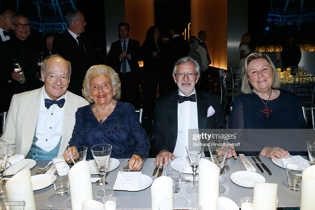 Prince Amyn Aga Khan, Bernadette Chirac, Dominique Chevalier and Maryvonne Pinault attend the 28th Biennale des Antiquaires : Pre-Opening at Grand Palais on September 8, 2016 in Paris, France.
