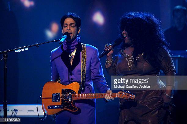 Prince and Chaka Khan perform 'I Feel For You' during 6th Annual BET Awards Show at Shrine Auditorium in Los Angeles CA United States